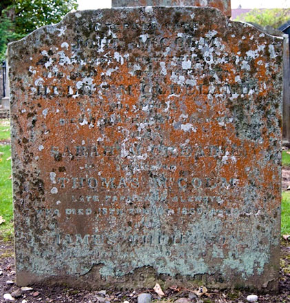 Headstone - South side